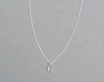 Silver Plated Initial G Necklace