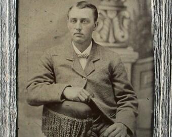 Tintype - Serious Young Man