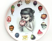 PRE-ORDER Just One Bite - Mad Food - Limited Edition 10 inch Melamine Dinner Plate - by Mab Graves