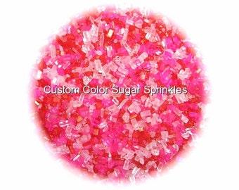 VALENTINE SUGAR CRYSTALS Edible Sprinkles Cake Confetti Cake Pop Cookie Decorations 2 oz.