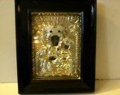Antique Orthodox Oklad Icon Virgin Mary Christ Child