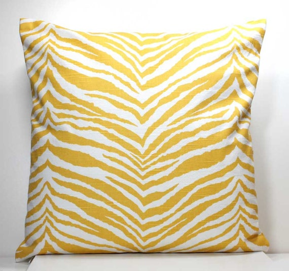 16 Inch OR 18 Inch Decorative Throw Pillow Cover Yellow