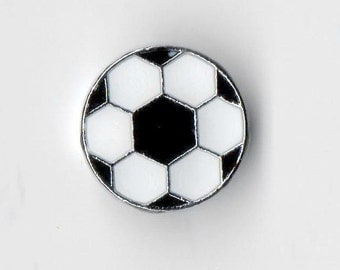 Soccer Ball Slide Charm - Fits 8mm Wristbands / Collars / Necklace / Bracelet / Key Chain - Ships from the USA (#SC/31)