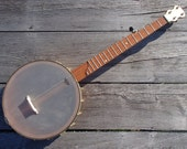 """Cherry 5 String 12"""" Open Back Banjo With Brass Hardware #29 Reserved for Hank"""