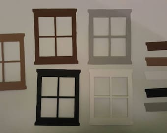 Window Frame and Flower Box Die Cuts - Set of 12