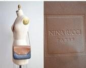 25% OFF STOREWIDE / Vintage 1980s NINA Ricci leather shoulder bag