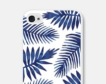 Tropical iPhone 6 Case Tropical Phone Case Tropical iPhone 5 Case Blue Leaves Samsung Galaxy S6 Case Tropical iPhone 5s Case iPhone 5c Case