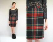 PENDLETON Plaid Skirt  //  Wool Mini Skirt  //  THE CAMPTON