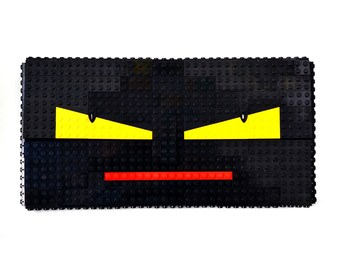 Monster face oversize clutch made entirely with LEGO bricks