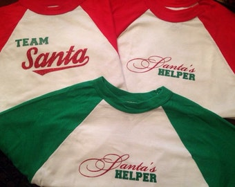 Santa's Helper or Team Santa Tees