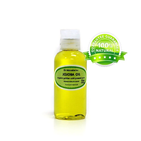 4 oz Pure GOLDEN Jojoba Oil Organic Cold Pressed UNREFINED