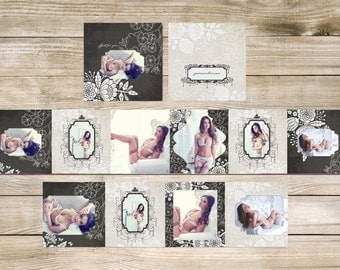 His Eyes Only Boudoir 3x3 mini Accordion Album Template for Photographers