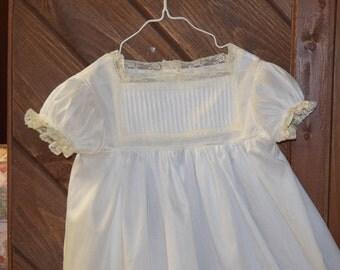 The Jane Austen heirloom dress size 8 white/ecru vintage lace Communion Confirmation Wedding Flower girl Portrait Pageant Beach wedding