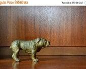 SALE 30% OFF antique bronze english bulldog figurine