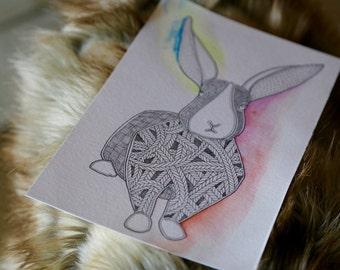 zentangle bunny