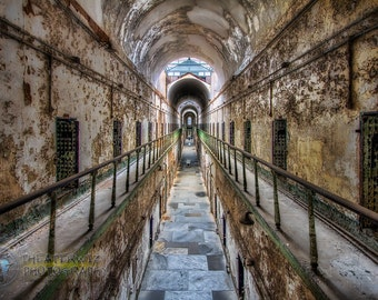 """Eastern State Penitentiary """"First Cell on the Right"""" Large Fine Art Print"""