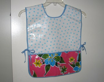 Childs oil cloth apron or smock