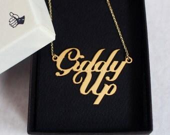 Giddy Up SAMPLE Necklace