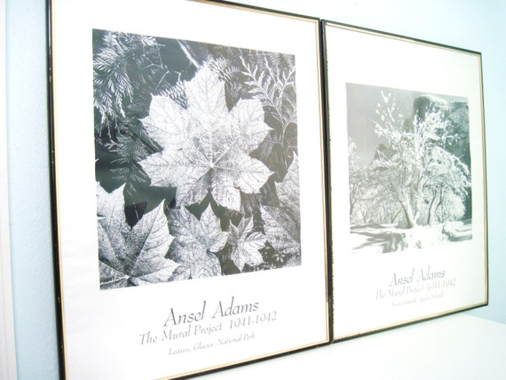 Vintage ansel adams framed photography by planetfriendlygoods for Ansel adams mural project prints