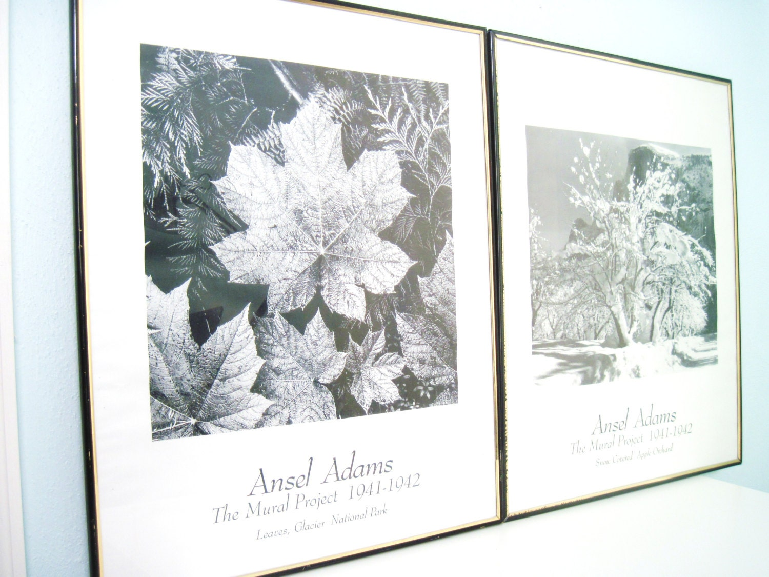 Vintage ansel adams framed photography by planetfriendlygoods for Ansel adams mural project 1941
