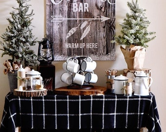 Hot Chocolate Bar Sign - Cabin in the Woods Edition