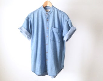 NIRVANA 90s DENIM mens vintage shirt