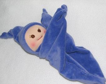 Velour Baby - Blanket Baby Doll - Security Blanket Doll in Purple RTG