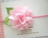 Pink Baby Headband - Pink Headband - Pink Flower Headband - Baby Headband, Newborn Headband, Toddler Headband, Girls Headband