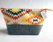 Large stand-up pouch, Zipper pouch, Makeup bag, Cosmetics bag, Toiletries bag, Project bag