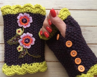 HALF OFF - Hand Knit Arm Warmers - Perfect for Gift Giving or For Yourself
