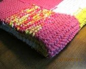 Bath Mat/ Rug Hand Knitted of durable 100% cotton, 25inches x 29 inches rectangular