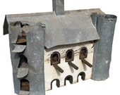 Primitive Hand-Made, Barn Birdhouse for Purple Martins