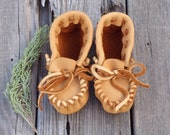Toddler moccasins , Leather baby shoes , Childrens moccasins , Ready to ship
