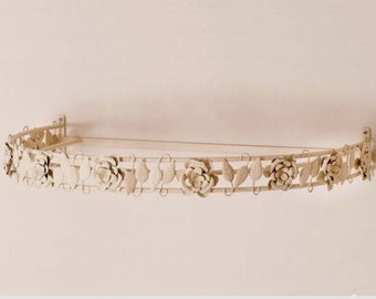 Shabby chic crib canopy, canopy for bed drapery with roses