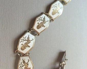 Vintage Siam Sterling Enamel Bracelet