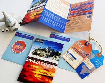 Lovely Travel Guide Destination Wedding Invitation