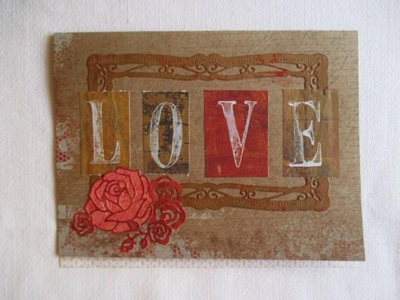 L.O.V.E Romantic Victoriana Valentine's Day Card