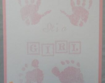 Handmade Baby It's A Girl Card