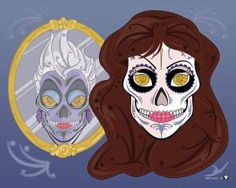 Vanessa (Ursula) Sugar Skull 11x14 print