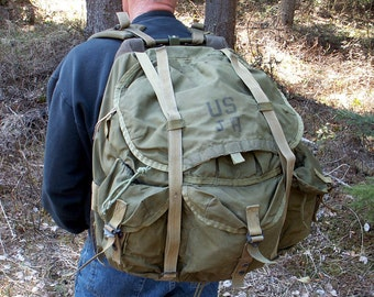 Military Backpack Alice Pack with Lightweight Frame Shoulder Straps Army Surplus Rucksack Bug Out Bag