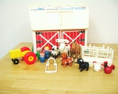 Vintage Fisher Price Barn with Accessories