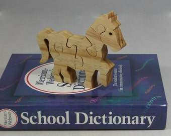 Horse Puzzle for Child - Kid's Toy - Child's Puzzle - Child's Horse Puzzle Decor