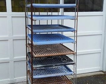 Rolling, Folding Bakers' Rack with Trays