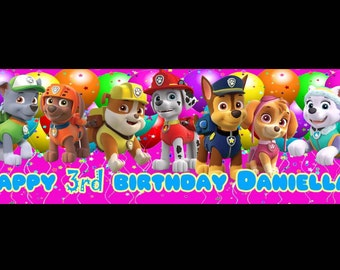 Personalized Bubble Guppies Birthday Banner