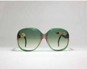 CLOSING SHOP 50% SALE / Vintage sunglasses. Lozza 80s oversized sunnies. deadstock green eyewear