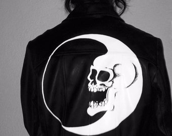 Dead Moon //  hand-painted leather jacket