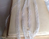 Vintage Lace Trim. Antique Lace, Ballet Dolls / 5 Ys Off White Honiton Lace Ballet Dolls & Vintage Wedding NOS