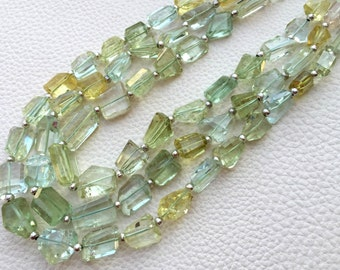 Brand New, 8 Inch Long Strand, Super Shiny Multi AQUAMARINE Faceted Nuggets, 8-11mm Long size,GORGEOUS