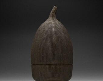 Handmade Ceramic Hobbit Box | Gnome Box | Stash Box 16-006