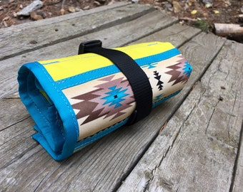 Original Bike Tool Roll - Yellow with Teal Trim